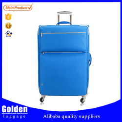 New product 2015 new colored crossing luggage bag, top brand lzd traveling luggage trolley bags