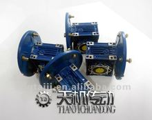 Low gap noise gear box reducer with motor flange