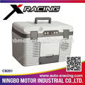 Xracing-2015 uso doméstico portátil carro frigorífico / 12 v carro frigorifico / plástico Cooler Box gelo