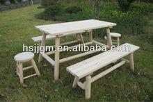 100% sólido de madera de jardín mesa rectangular