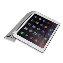 Hot Sales fashion and cool PU smart case for iPad air for air2 folded 3 styles for ipad air 2 smart back cover
