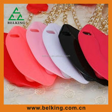 Hot red TPU lip lips case for Apple iPhone 5, for iPhone 5S sexy lips csae
