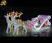 Acrylic outdoor christmas iron decorative sleigh