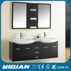 Modern Wall Hang MDF Cabinet Black Furniture Bathroom Vanity