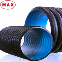 "Drainage Plastic Pipe HDPE Double-wall Corrugated Pipe 12"" Pipe Price"