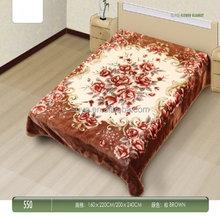 Hot sale branded shiny cotton blanket
