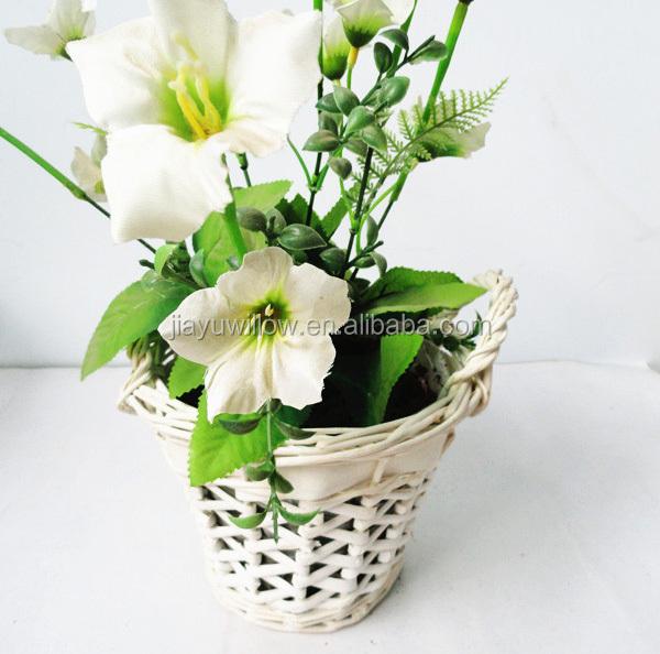 Wicker Baskets For Plants Decorative Indoor Flower Hanging
