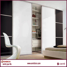 Fashionable Design double open sliding doors white steel stationary cupboard
