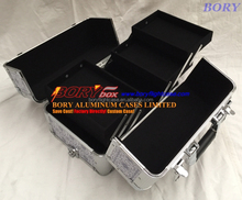 ALUMINUM MAKEUP ARTIST COSMETIC TRAIN CASE BOX KIT BAG