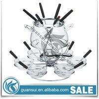 Birds For Sale New Product Ideas Glass Fondue Warmer Set