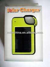solar de bolsillo banco de alimentación cargador de batería para iphone 4s htc teléfonos nokia