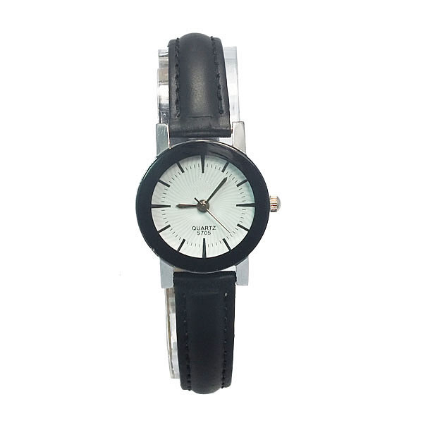 fashion quartz slim style genuine leather watches slim stone watch