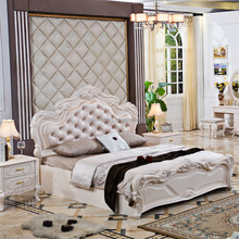 european style hand carved bedroom furniture bed