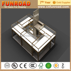 High end wood glass earring display for jewelry store