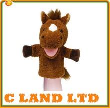 Stuffed toys manufacturer custom plush horse hand puppet