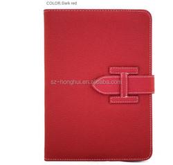 Leather smart case for IPAD MINI 3, universal leather case smart cover for IPAD MINI 2 HH-IPM03(1)