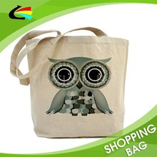 Customized Design 100% Recycled Reusable Eco Shopping Canvas Cotton Tote Bag