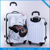 Pc+abs print luggage/travel bag/suitcase set