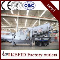 KJ98 good quality K mobile screening and crushing track crusher port