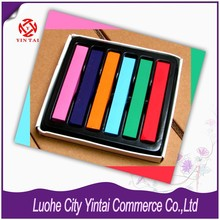 2015 hot sale Cool 6 colors Long Non-toxic Temporary DIY Hair Chalk Dye Soft Pastels Salon Kit