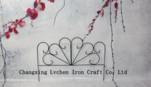 Fleur De Lis Classic Decorative iron Landscape Border Fence Section