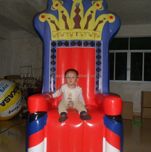 Factory direct sale wholesale high quality king throne inflatable chair inflatable throne chair for adult/kids/babay