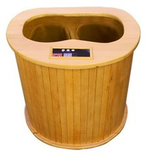 2015 far infrared foot sauna,sauna barrel for foot therapy with electronic massager(CE/RoSH/ISO)