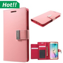 S6 Edge Leather Case Full Body Protect Flip Cover For Samsung Galaxy S6 Edge G925 Luxury PU Skin Stand Display Phone Shell House