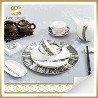 Wholesale exclusive porcelain dinnerware, party tableware set, hotel used dinner plates