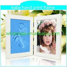 Customed Baby Foot Hand Prints Frame small footprint hollow membrane