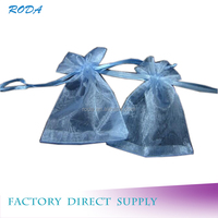 Jewelry Organza Bag ,organza gift pouch with logo ribbon