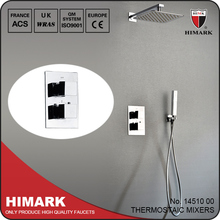 Contemporary wall mounted rain shower thermostatic tap