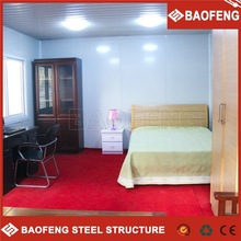 movable fire proof prefab hotel room