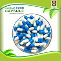 Fabricación personalizada de embalaje cápsula azul y pastillas de color blanco