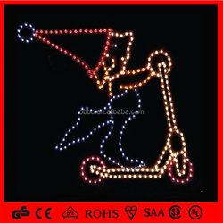 2014 christmas decoration santa claus playing skateboard
