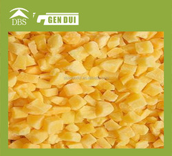 Diced Frozen Yellow Peachs new season grade a iqf yellow peach dices