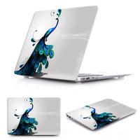 3D uv laser printing sleeve Case for MacBook pro 13 retina pro 15 retina air 11 13 Beautiful Peacock