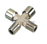 brass nickle plating cross fitting in Casting pipe fittings