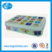 Chinese exporter educational cards storage tin boxes gift tin cans