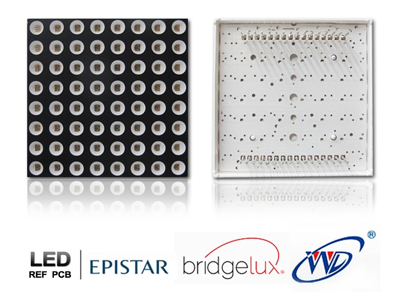Square dot 6x6mm panel led array display 5*7