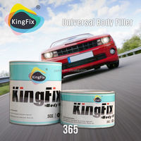KINGFIX Brand BPO system excellent adhesion hardener polyester putty for cars