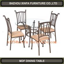 Modern European style round,steel,glass dining set49241