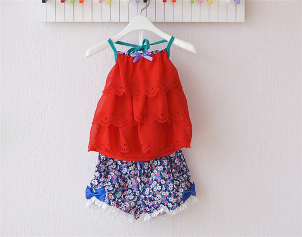 Fancy Crop Tops Baby Girls Summer Set With Floral Pants Baby Girl Boutique Summer Clothing Set ...