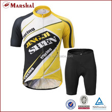 Wholesale black yellow specialized cheap sublimation cycling jersey