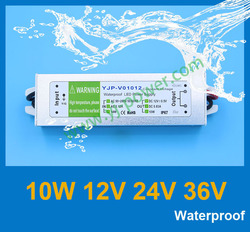 12V 0.8A led power supply IP67 waterproof outdoor used switching power supply,CE RoHS DHL free shipping