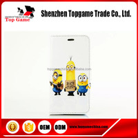 New Arrival despicable me minion leather flip case For Iphone6 Plus case