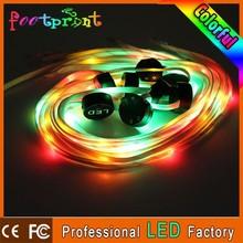 glow led fiber custom shoelace charm