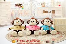 Hot New Plush Toy China Wholesale plush stripe monkey with t-shirt,Plush Stuffed Monkey Toy