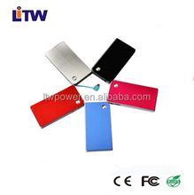 LT-A12 Wholesale polymer power bank portable charger built in usb cable super slim power bank 5000 mAh