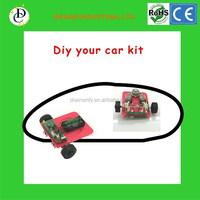 Technical education DIY line follower robot ,DIY car kit